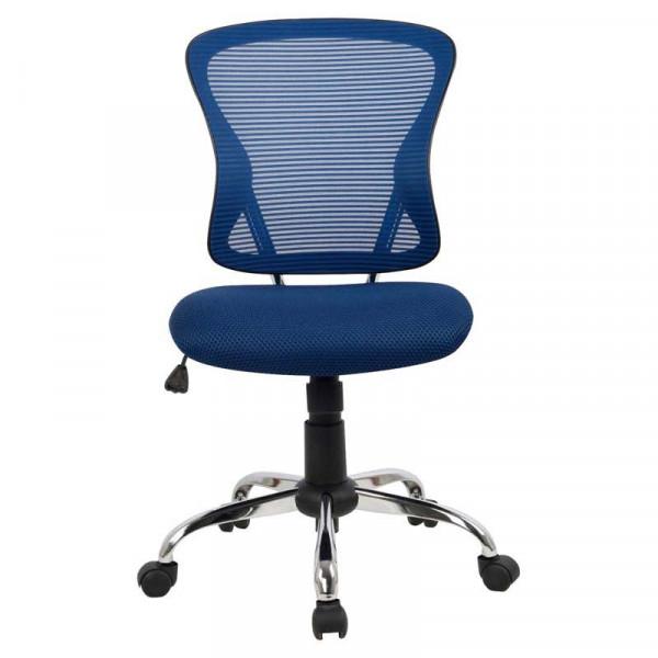 Brenton Ergonomic Chair Blue Mesh Mid Back