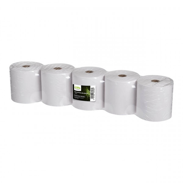 BEST BUY Icon Thermal Eftpos Roll 80 x 80mm (Price Is For A Pack Of 5 Rolls. Min Purchase Of 5x Packs)