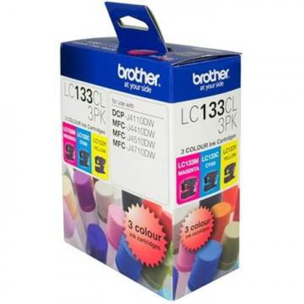 Brother LC133 CMY Colour Pack LC133CL3PK