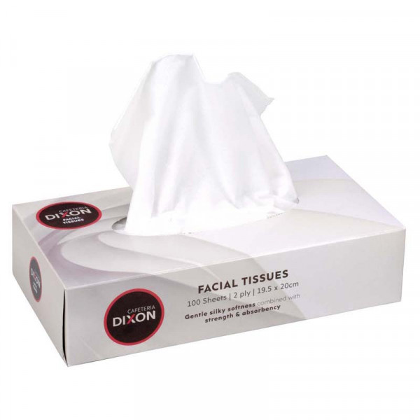 Dixon Tissues Facial 2 Ply White Box 100