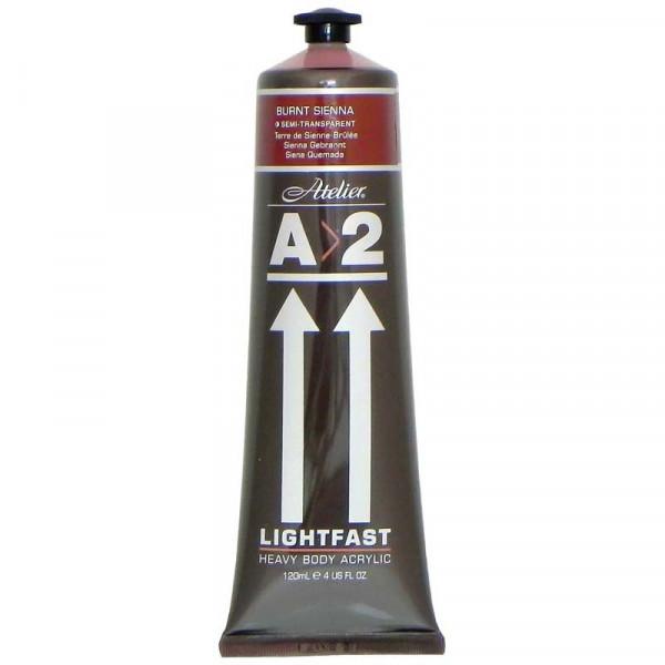 A2 Lightfast Heavybody Acrylic 120ml Burnt Sienna