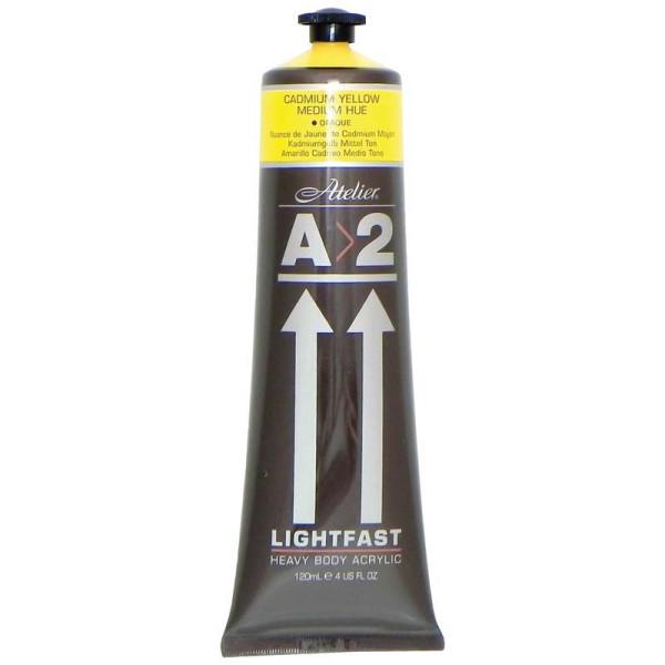 A2 Lightfast Heavybody Acrylic 120mlcadmium Yellow Medium