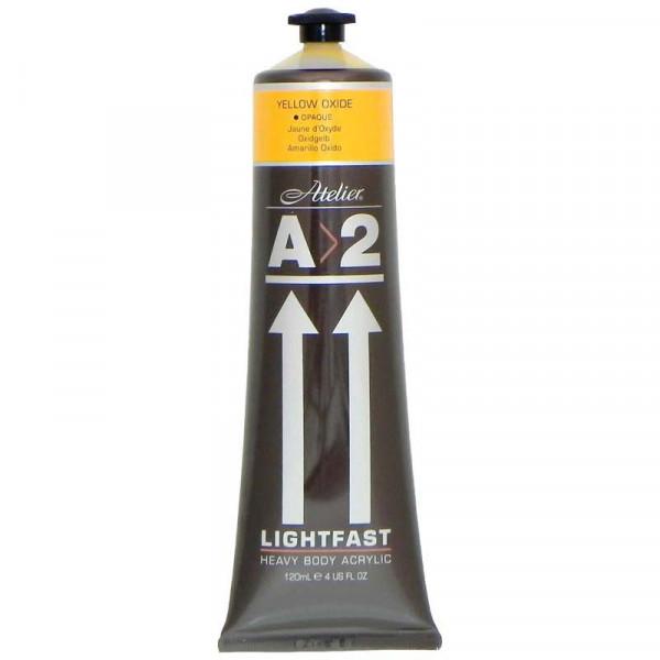 A2 Lightfast Heavybody Acrylic 120ml Yellow Oxide