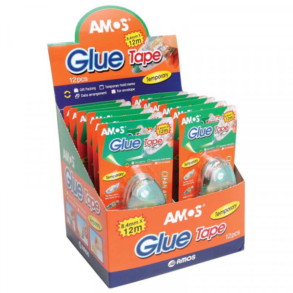 Amos Glue Roller Temporary 12mx8.4mm