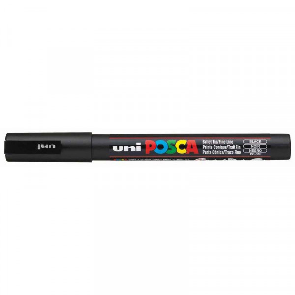 Uni Posca Marker 0.9-1.3mm Fine Black PC-3M
