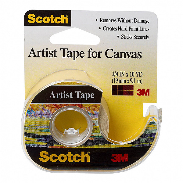 Scotch Artist Tape FA2010 19mm x 9.1m on dispenser