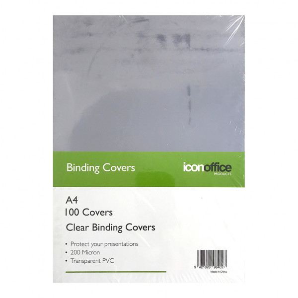 BEST BUY Icon Binding Covers Clear A4 200micron Pack of 100