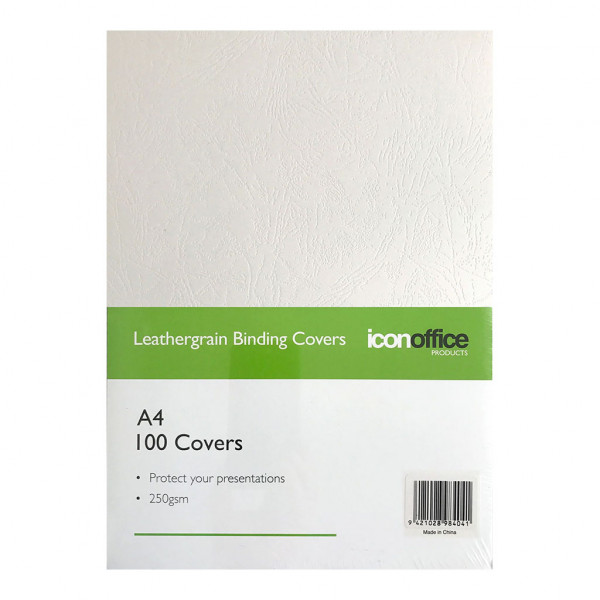 BEST BUY Icon Binding Covers White A4 250gsm Pack of 100