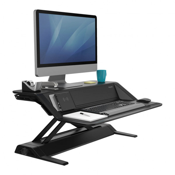 Fellowes Sit Stand Workstation - Lotus™ DX - Black