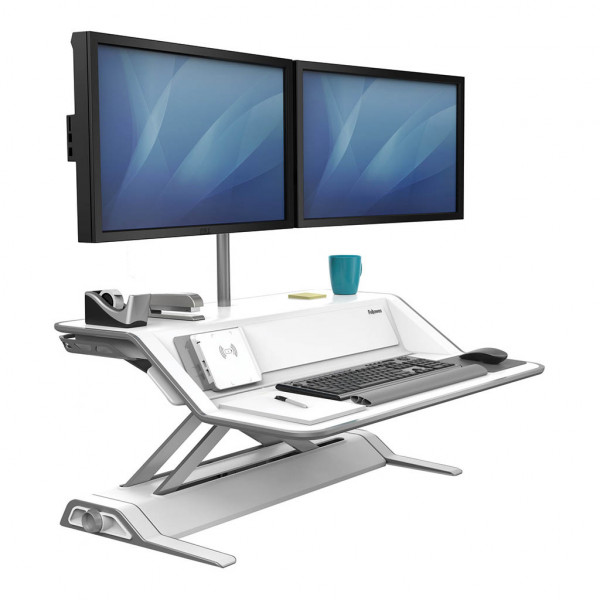Fellowes Sit Stand Workstation - Lotus™ DX - White