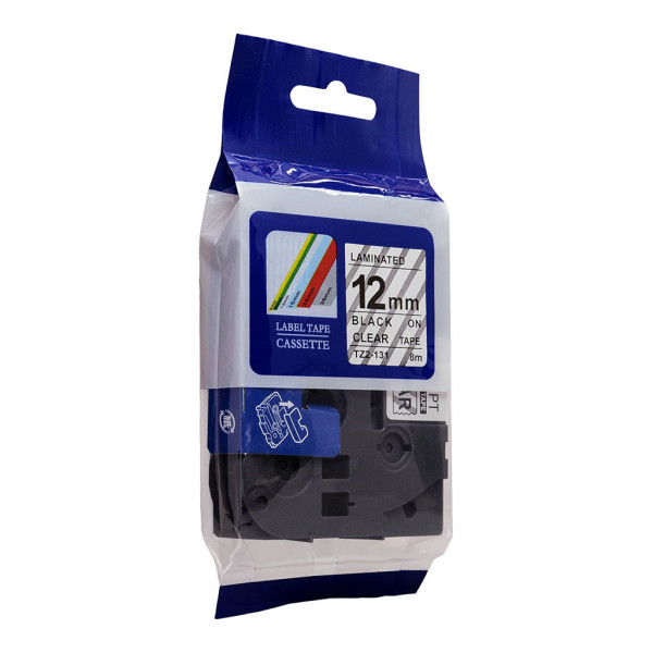 'Best Buy' Icon Compatible Brother TZe131 Tape 12mm x 8m Black on Clear