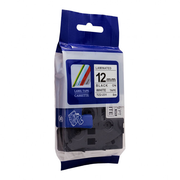 'Best Buy' Icon Compatible Brother TZe231 Tape 12mm x 8m Black on White